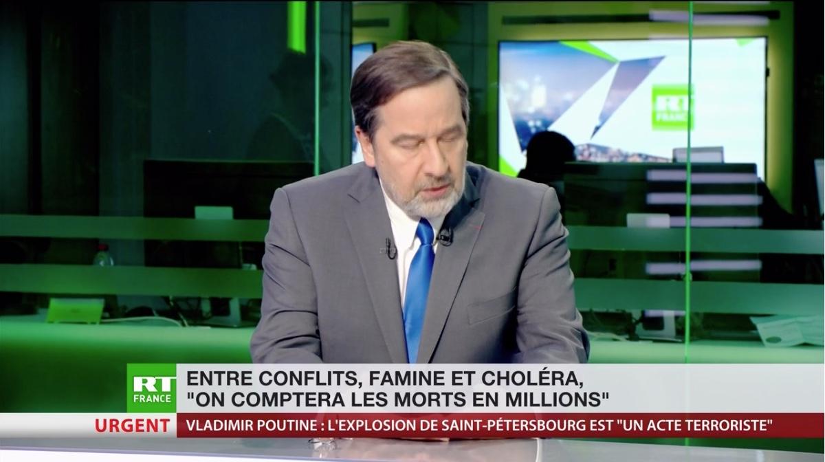 Capture d'écran RT France Décembre 2017
